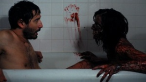 Hell's Kitty %22Blood Bath%22 Scene with Lisa as zombie in tub with Nick